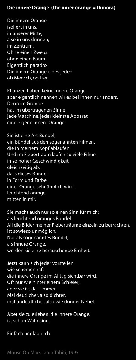 Die innere Orange (Text)